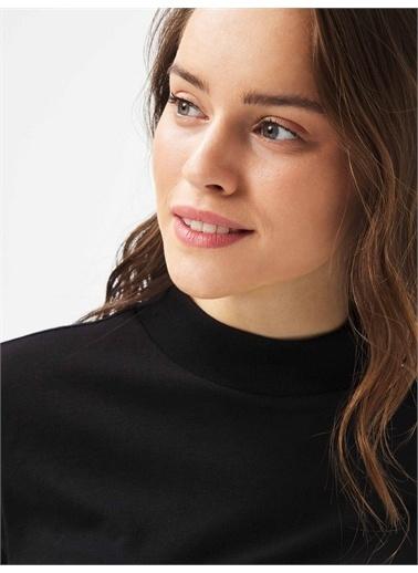 Xint XINT Dik Yaka %100 Pamuk Rahat Kesim Basic Tişört Siyah
